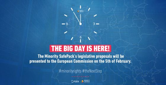 The legislative proposals of the Minority SafePack Initiative will be presented to the European Commission on the 5th of February